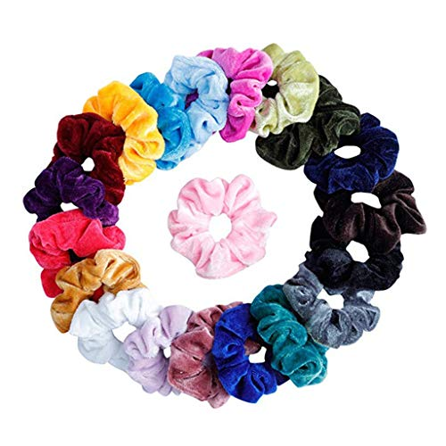Head Chain, 20Pcs Hair Scrunchies Velvet Elastic Hair Bands Scrunchy Hair Ties Ropes Scrun by Little Story