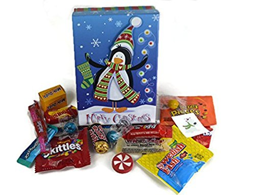 Happy Holidays ~ Fun Christmas Themed Popup Gift Boxes ~ Filled with Fun Favors and Assorted Treats (4 Oz)