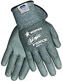 MCR Safety N9677L Ninja Force Polyurethane/Dyneema 13-Gauge Gloves, Gray, Large, 1-Pair