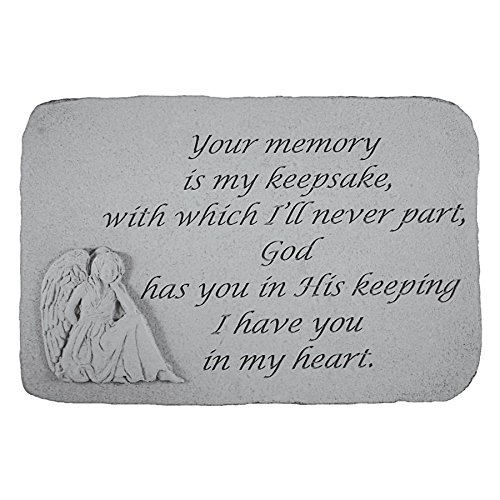 Design Toscano Your Memory is my Keepsake: Angel Cast Stone Memorial Garden Marker