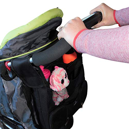Universal Baby Stroller Organizer Bag with 3 Insulated Pocke