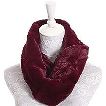 Plush Infinity Scarves For Women Girls Fleece Neck Warmers Circle Loop Scarf