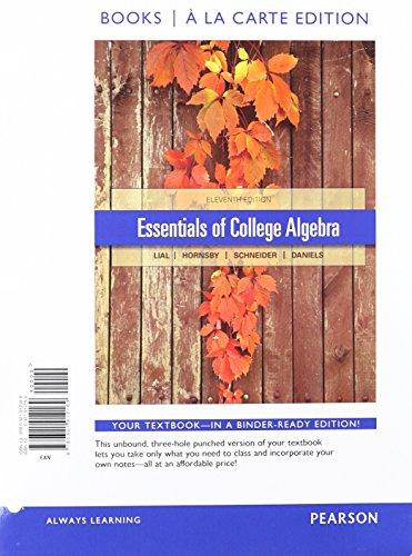Essentials Of College Alg.(Ll) W/Access