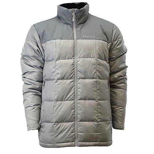 Marmot Greenridge Men's Down Winter Jacket (Large, Grey Storm/Steel Onyx)