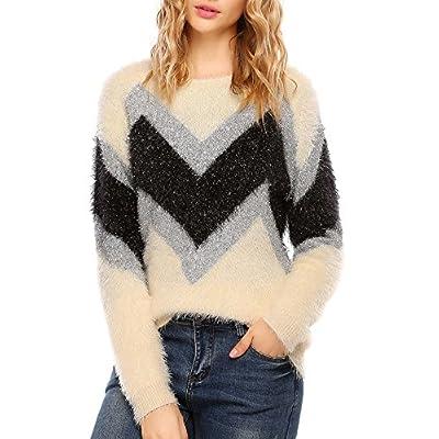 Zeagoo Women's Knit Sweater Crew Neck Long Sleeve Loose Top Jumper for sale
