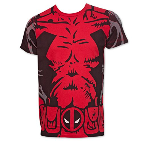 Marvel Deadpool Costume Mens T-shirt (Deadpool Costume Shirt)