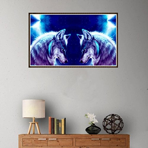 Pandaie -Two Wolf-5D Diamond Painting Kits Diy Amazon Kit Cross Stitch Michaels 3D Art Paint Hobby Decor Wall Room Stickers & Murals Bedroom