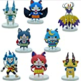 8pcs 6cm Yokai Watch Yo-kai Figures Toys Cake Toppers play set Jibanyan Kyuubi Whisper