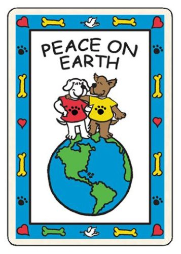 """""""Peace On Earth"""" Edible Holiday Card for Dogs, My Pet Supplies"""