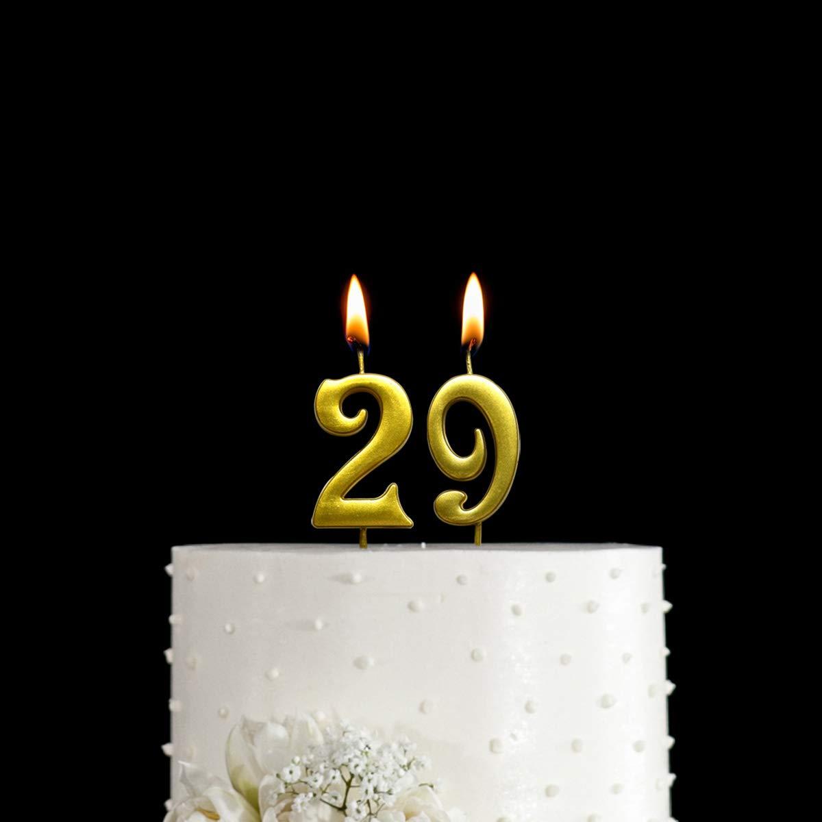 Amazon.com: Magjuche - Vela con número 29 de cumpleaños ...
