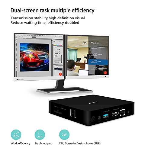 IBOPAIDA Mini pc,Desktop pc,Intel Atom x5-Z8350 Processor (2M Cache, up to 1.92 GHz) 4K/2GB/32GB 1000Mbps LAN 2.4/5.8G Dual Band WiFi BT 4.0 with HDMI Fanless Computer Support Windows 10 by IBOPAIDA (Image #2)