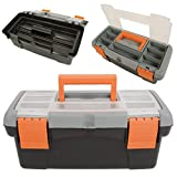 Kenable Toolbox with Removable Tray and Storage Compartment Eyehole Lid Large