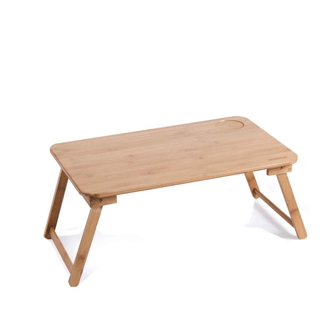 Duzhengzhou Vassoio per Il Tavolo da Colazione in bambù Tavolo per Laptop Vassoio per Il Servizio Maniglie Gambe Pieghevoli
