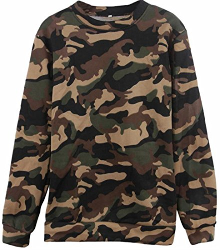 Pullover Sweatshirt today Classic 3 Sleeve Print UK Camouflage Women Long agB7q