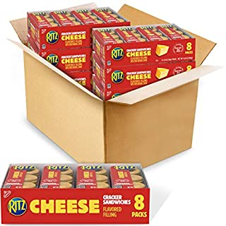 RITZ Cheese Sandwich Crackers, 48 - 1.38 oz Packs (6 Boxes)