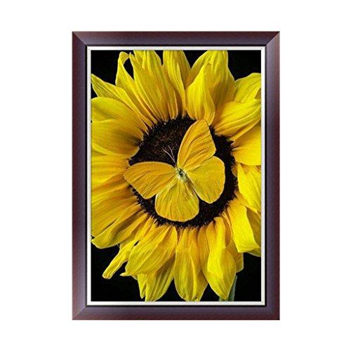 Kit Sunflower (Kofun 5D DIY Diamond Painting, 5D DIY Painting Paint by Numbers Diamonds Embroidery Painting Cross Stitch Kit DIY Home Decor Sunflower 30x42 cm)