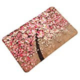 Oil Painting Floral Door Mat Flannel Antislip LivebyCare Doormat Entry Decor Front Entrance Indoor Outdoor Mats for Women Men Office Chair
