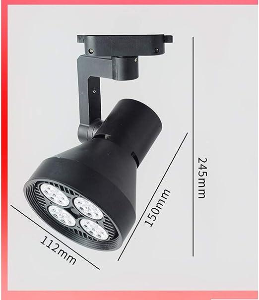 Iluminación de riel Foco reflector para techo LED-35W Proyector ...