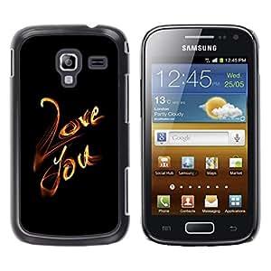 LECELL--Funda protectora / Cubierta / Piel For Samsung Galaxy Ace 2 -- AMOR QUE LA HOJA --