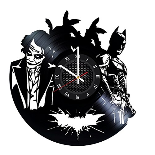Ma Va Batman vs Joker Vinyl Record Wall Clock Gift for Fans Great Idea Home Decor DC Comics Vintage Decoration - Buy Gift for Everybody]()