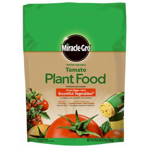 Miracle-Gro Water Soluble Tomato Plant Food, 3-Pound (Tomato Fertilizer)