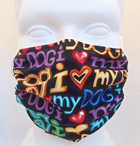 J'aime mon chien (taille enfant) Kids allergie à la poussière/code masque, masque grippe Kids avec masque de mort germe antimicrobiens
