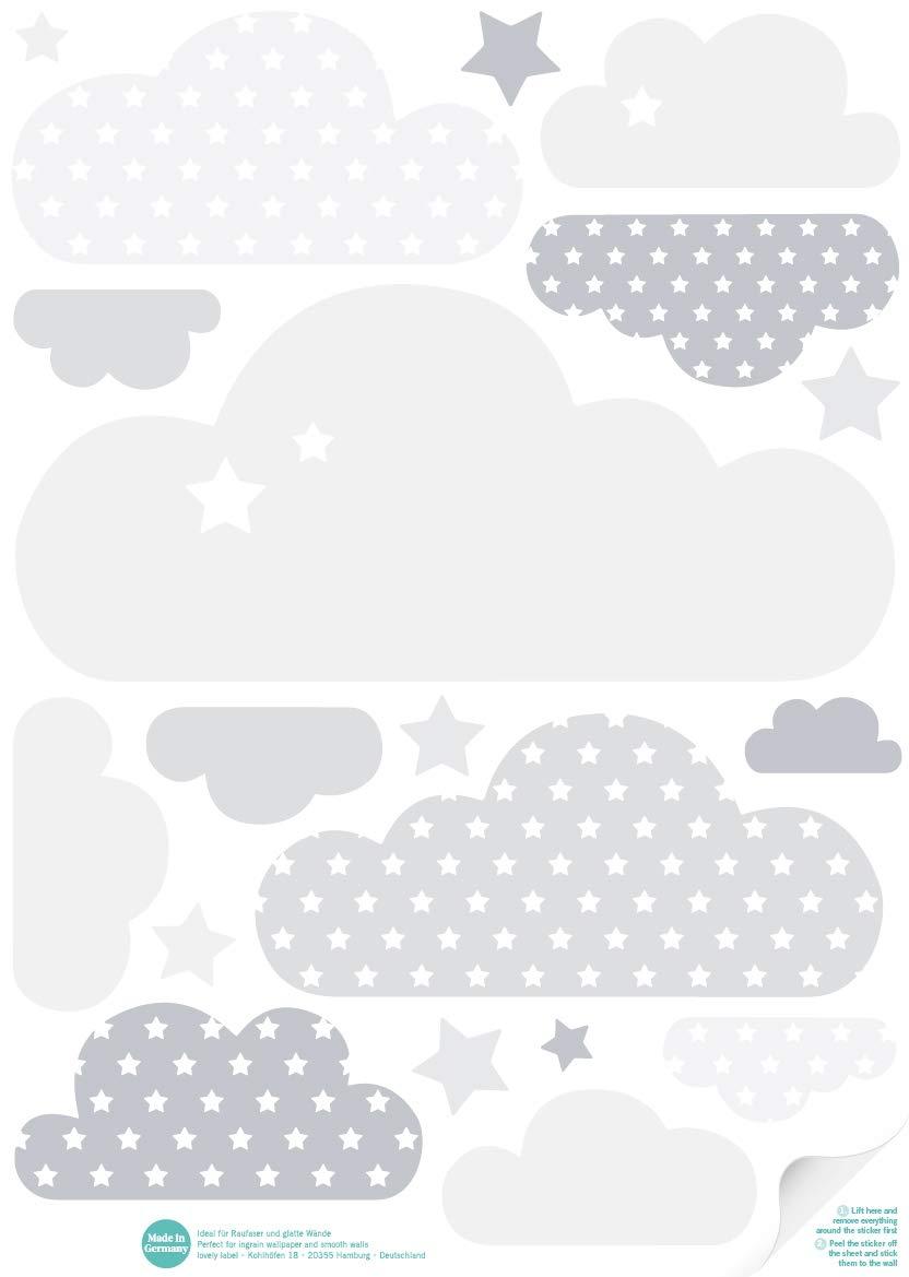 Kinderzimmer Farben Lovely Label Wandsticker Selbstklebend Wolken Blau Wandaufkleber Kinderzimmer Babyzimmer Mit Wolken Und Sternen In Versch Wanddeko Baby Kinder Wandtattoo Schlafzimmer Madchen Junge Baby Agb Lv