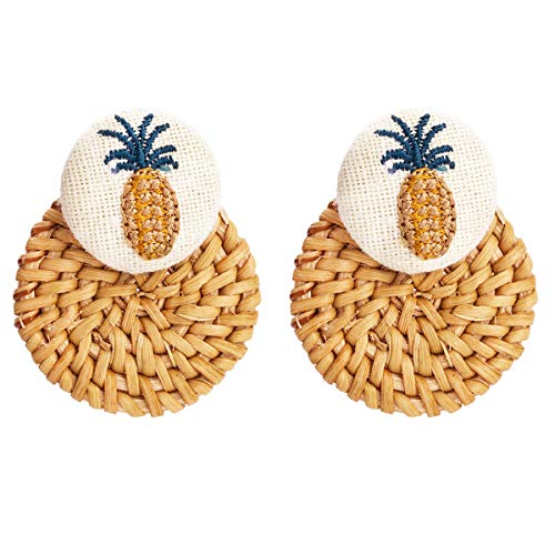 (Sparkling Yellow Emerald Crystal Vintage Trendy Fruit Pineapple Earrings Stud Jewelry Sets For Women Girls (pineapple 4))