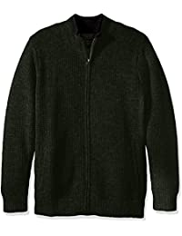 Men's Shetland Full-Zip Cardingan Sweater