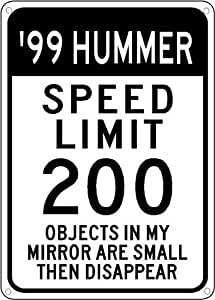 1999 99 HUMMER H1 Speed Limit Sign - 10 x 14 Inches