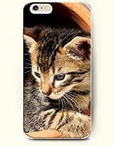 iPhone 6 Case 4.7 Inches Cat Thinking - Hard Back Plastic Phone Cover SevenArc Authentic