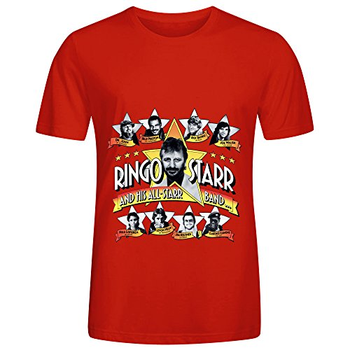 Ringo Starr Ringo Starr And His All Starr Band Soundtrack Men Cool Tee Red