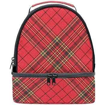 fce5a9c49cb9 Amazon.com: My Daily Kids Lunch Box Plaid Gingham Checkered Stripe ...