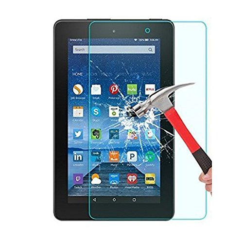 Fire 7 2015 Tempered Glass Screen Protector, Asstar High Definition (HD) Touch screen 0.3mm 2.5D for Amazon Fire Tablet (7 inch Display, 2015 Release Only)