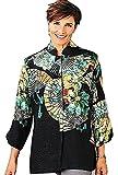 Vintage Fans Silk Jacket Top (medium)