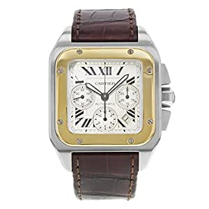 Cartier Santos 100 automatic-self-wind mens Watch W20091X7 (Certified Pre-owned)