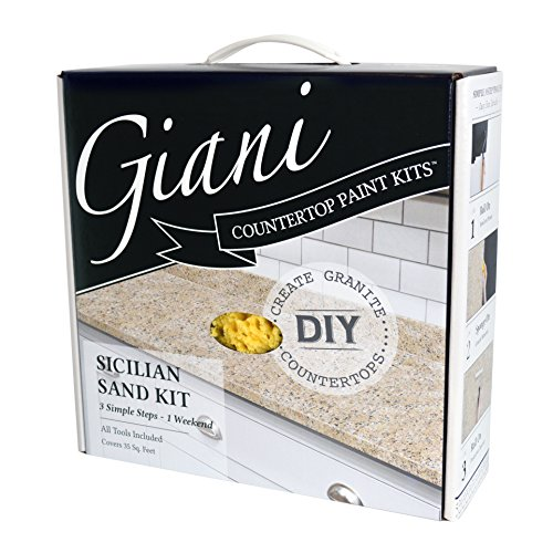 White Granite Tiles (Giani Countertop Paint Kit, Sicilian Sand)