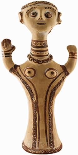 Greek Minoan Goddess Figurine Replica, 1300-1200 BC, Nafplion Museum 32cm