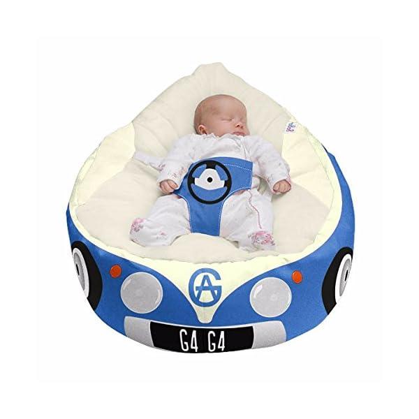 Luxury Cuddle Soft Iconic Campervan Gaga Baby Bean bags