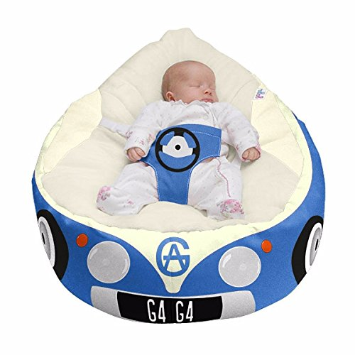 Luxury Cuddle Soft Iconic Campervan Gaga Baby Bean bags