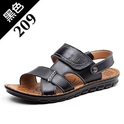 Black Summer Marée Les Pantoufles Chaussures De Plage, Occasionnel, Hommes, Non Glissants.,Eu38Cn39,Black