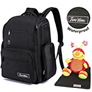 ON SALE! Chapter: Daddy Cool. 22 Pockets Large Travel Diaper Backpack Baby Bag for Boys & Girls, Waterproof with Infant Changing Pad, Wipe Pocket, Stroller Straps & Trolley Sleeve. MARINES!