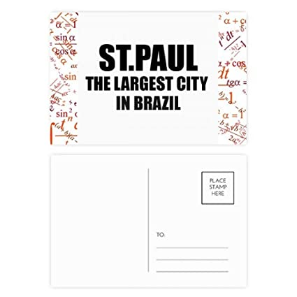 Paul The Largest City In Brazil Formula Postcard Set Thanks Card Mailing  Side 20pcs   Office Products b508e9afe