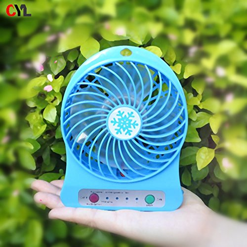HP Deals Mini Portable USB Rechargeable 3 Speed Fan Colors May Vary