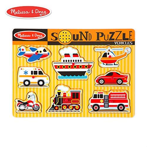 (Melissa & Doug Vehicles Sound Puzzle (8 Pieces))
