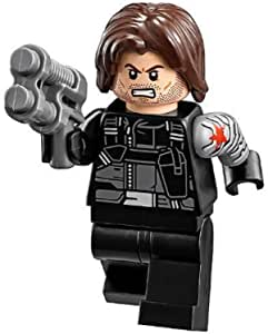 Lego Marvel Captain America Civil War Winter Soldier Minifigure Loose