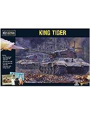 Bolt Action King Tiger Tank 1:56 WWII Militar Wargaming Kit de Modelo de plástico