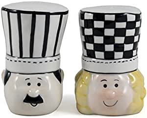 Grant Howard Ceramic Chef Sam and Pam Salt and Pepper Shaker Set