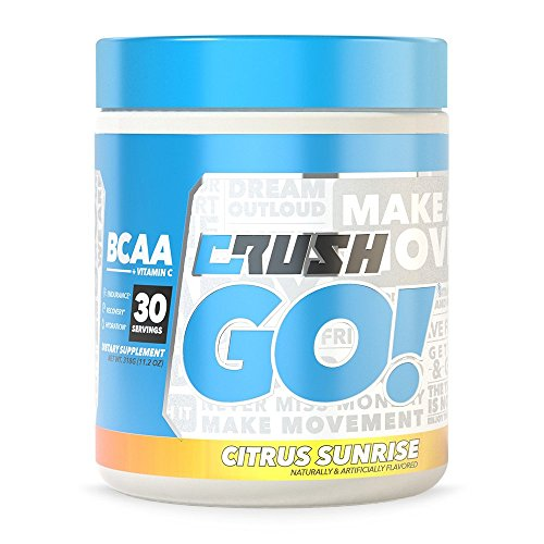 Complete BCAA for Muscle Recovery, Reduced Soreness, and Workout Endurance. Crush GO! Amino Acid with Vitamin-C for added Immune System Strength