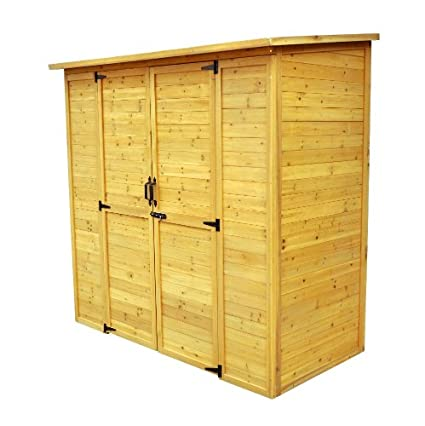 Leisure Season Extra Large Storage Shed, Solid Wood, Decay Resistant